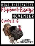 November Writing Projects CCSS aligned for 3rd, 4th, 5th, and 6th Grades