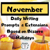November Writing Prompts.  60 Prompts, 30 photos, 30 Extensions