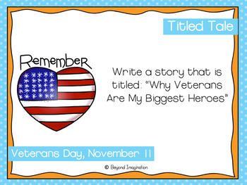 November Writing Prompts | Fall | Veterans Day | Family Stories Month