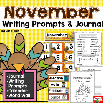November Writing: Prompts, Journal, & Calendar