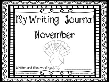 November Writing Prompts Journals