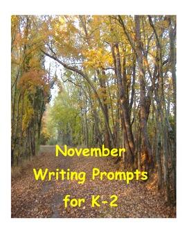 November Writing Prompts K-2