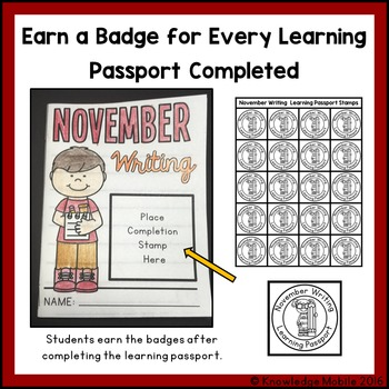 November Writing Prompts - Learning Passport