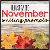 November Photo Writing Prompt Task Cards