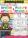 November Writing Prompts : Opinion Writing & Picture Prompts