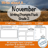 Writing Prompts for Second Graders | November Themes