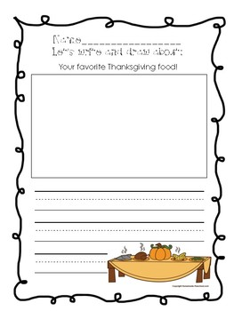 November Writing Prompts (Primary Grades!)