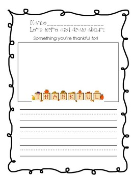 November Writing Prompts for Primary Grades! {Print and Go!}