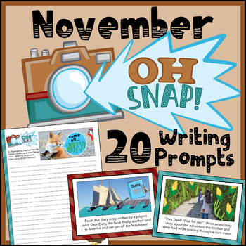 November Daily Writing Prompts - Thanksgiving Writing Prompts - Google Classroom
