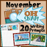 November Daily Writing Prompts - Thanksgiving Writing Prom
