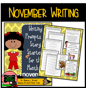 November Writing Prompts and Story Starters