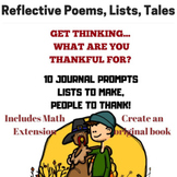 November Writing Prompts for Thankful Thinking