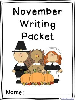 November Writing Prompts of Differentiated Themed Paper