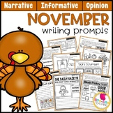 November Writing Prompts | Real-World/Draw & Write Formats