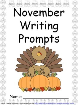 November Writing Prompts on Themed Paper {Just Print & Go!}