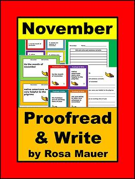 November Proofread and Write Activity