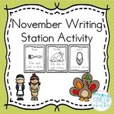 November Writing Station Activity