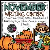 November Writing Units, November Writing Centers