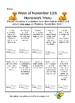 November and December Homework Menu