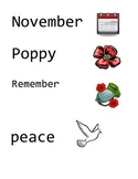 November and Remembrance Day Words