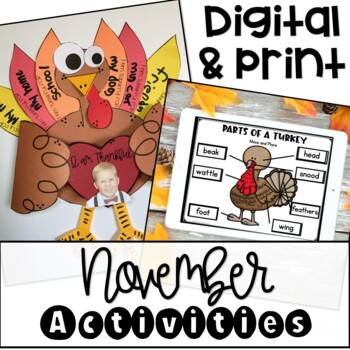 November and Thanksgiving Print and Go Pack {Printables}