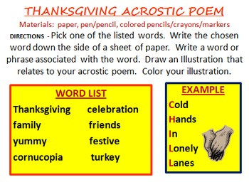 November and Thanksgiving Writing Activities POWER POINT VERSION 10 Activities