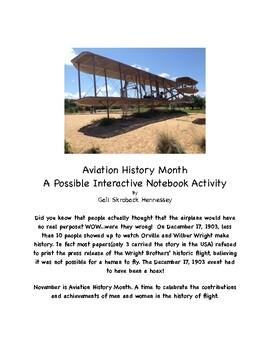 November is  National Aviation Month( FREEBIE)
