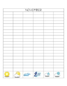 November math calendar journal