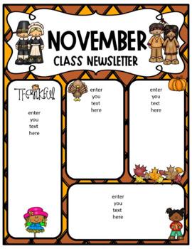 November newsletter freebie