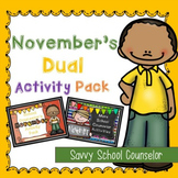 November's Dual School Counselor Activity Pack