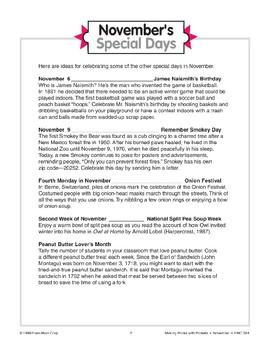 November's Special Days