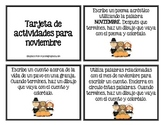 November task cards (Spanish)