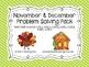 November/December Problem Solving Pack