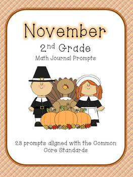 November/Fall 2nd Grade Common Core Math Journal Prompts