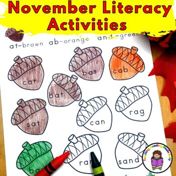 November Literacy Center Activities (Bundle)