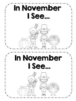 November/Thanksgiving Emergent Reader