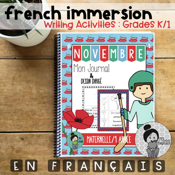 Novembre Journal Prompts French and Directed Drawings Maternelle