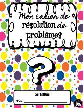 Novembre: Mon cahier de résolution de problèmes