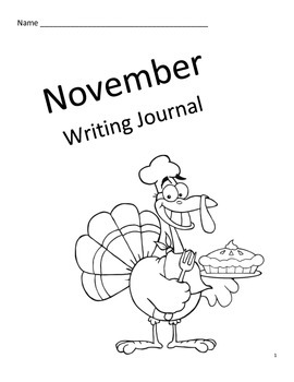 Novemeber Primary Writing Journal