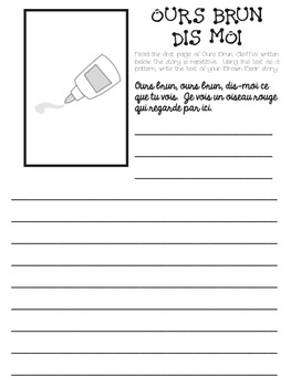 """Novice """"Brown Bear"""" activity pack to review colors"""