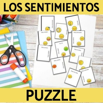 Feelings Vocabulary Squares- Printable Puzzle