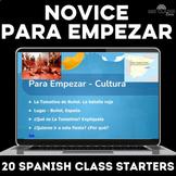 Novice Spanish bell ringers or brain breaks for Spanish 1