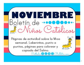 Noviembre 2016 Boletín para Niños Católicos