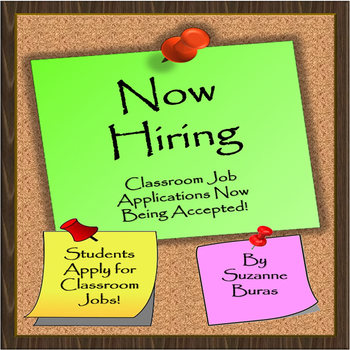 Now Hiring!  Classroom Job Application and More!
