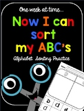 Now I Can Sort My ABC's (No-prep letter activities)
