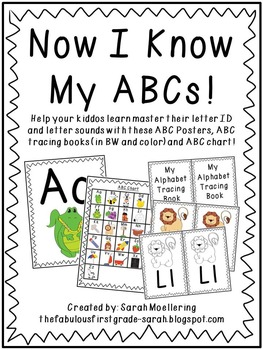 Now I Know My ABCs! (ABC Posters, Tracing Books, and Charts!)