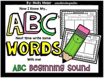 Now I Know My ABC's - ABC Word Writing