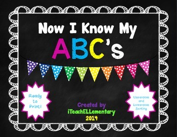 Now I Know My ABC's {Letter Recognition Sorts}