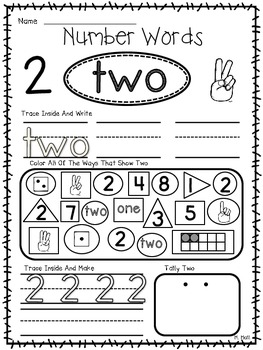 Now I Know My One, Two, Three's! {0-10 Number Word Worksheets}