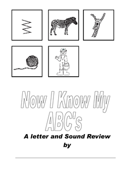 Now I know My ABC's Letter Book